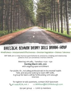 Dialectical Behavior Therapy Skills Training Group | OCD Spectrum